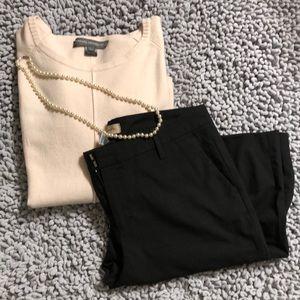 Gap straight fit black dress pants